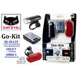 CATEYE : Go-Kit ชุดไฟหน้า + ไฟหลัง + ไมล์สาย