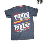 เสื้อยืดชาย Lovebite Size M - Tokyo running 1981