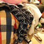 กางเกงเลกกิ้ง สกรีนลายคิตตี้ สีดำ size 9