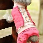 (พร้อมส่ง) ชุดกันหนาวสุนัขสี่ขา พอลแฟรงค์ สีชมพู