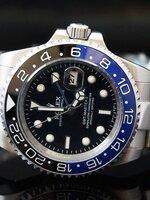 นาฬิกา Rolex GMT Master II Ceramic สายเลส หน้าปัดสีดำขอบน้ำเงินดำ ระบบ Automatic