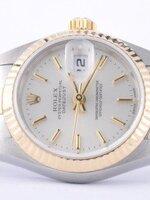 นาฬิกา Rolex DateJust Rose Gold งานเกรด Mirror สายจูบิรี่ หน้าปัดสีขาว สายสีทองสลับเงิน
