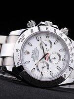 นาฬิกา Rolex Daytona Cosmograph หน้าปัดสีขาว สายเลส รุ่นดังตลอดกาล