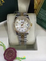 นาฬิกา Rolex DateJust Lady งานเกรด Mirror สายจูบิรี่ หน้าปัดสีลายขาวมุข ฝังเพชร รุ่นดังหรู มีระดับ