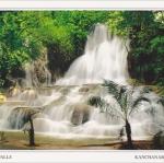 โปสการ์ด น้ำตกไทรโยคน้อย จังหวัดกาญจนบุรี /อุทยานแห่งชาติไทรโยค/น้ำตก