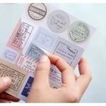(5 แผ่น/ชุด) สติ๊กเกอร์ Vintage Labels/Postmarks Stickers