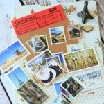 (4 แผ่น/ชุด) (เซ็ทสุดท้าย) แสตมป์สติ๊กเกอร์ Traveler's Notebook Stamp Sticker Set #3 (ใช้ตกแต่ง ไม่สามารถใช้แทนค่าฝากส่ง)