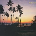 โปสการ์ด แหลมคอกวาง เกาะลันตา จังหวัดกระบี่ /ทะเล/ชายหาด/อุทยานแห่งชาติ/พระอาทิตย์ตก