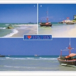 โปสการ์ด I love Hua Hin หาดเขาตะเกียบ จังหวัดประจวบคีรีขันธ์ /ทะเล/ชายหาด/multiview/I<3