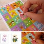 (16 แผ่น/ชุด) แสตมป์สติ๊กเกอร์ Petit Inbetweening Stamp Sticker Set