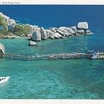 โปสการ์ด เกาะนางยวน จังหวัดสุราษฎร์ธานี /ทะเล/ชายหาด/อุทยานแห่งชาติ