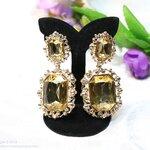 E199003 Yellow Diamond Chandelier Elegance Design