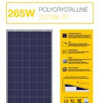 แผงโซล่าเซลล์ Solar Cell 265W Poly