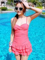 ชุดว่ายน้ำวันพีช สายเดี่ยว สีชมพู หวานน่ารัก