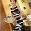 ( พร้อมส่งเสื้อผ้าเกาหลี) เดรสทูโทนลุคเรียบหรู ทรวดทรงของชุดดูหรูหราความยาวที่เหมาสะสมสวย เนื้อผ้า Silk polyesrer ลายพิมพ์ผ้าสวยเด่น พร้อมเข็มขัดลายเหมือนชุด มีซิปด้านหลังนะคะ thumbnail 14