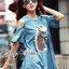 ( พร้อมส่งเสื้อผ้าเกาหลี) เดรสผ้าเดนิมปักเลื่อมลายม้าสุดเก๋ ตัวนี้ออกแนวสาวเท่ เปรี้ยว มั่นใจ มีลูกเล่นช่วงไหล่คัทเอาท์ ชายแขนเสื้อปล่อนระบาย ด้านหน้าปักเลื่อมเป็นลายม้าสุดชิค thumbnail 1