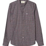 Fred Perry x Bradley wiggins Gingham shirt Col : port