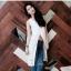 เสื้อทรงตัวยาว เนื้อผ้าZara นุ่มเงา ดีเทลรุ่นนี้เปรี้ยวsexy thumbnail 1