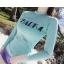 SM-V1-537 ชุดว่ายน้ำแขนยาว เสื้อสีเขียว สกรีนอักษร Shark กางเกงขาสั้นสีม่วง thumbnail 8