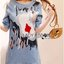 Lady Sophie Sequin Embroidered Ripped Denim Dress L235-89C01 thumbnail 8