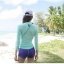 SM-V1-537 ชุดว่ายน้ำแขนยาว เสื้อสีเขียว สกรีนอักษร Shark กางเกงขาสั้นสีม่วง thumbnail 7