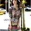 Lady Florence Hippie Chic Printed Satin Dress L191-75C07 thumbnail 11
