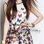 Lady Daria Feminine Insert Lace Colourful Butterfly Printed Dress thumbnail 9