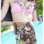 SM-V1-452 ชุดว่ายน้ำ เซ็ต 3 ชิ้น แต่งระบายน่ารักๆ โทนสีชมพู ขายพร้อมผ้าคลุมซีทรูลายดอกไม้(บรา+บิกินี่+ผ้าคลุมซีทรู) thumbnail 7