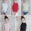 เสื้อลูกไม้งานสไตส์เกาหลีมีโบว์หลังน่ารักๆ thumbnail 1