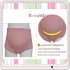 กางเกงในคนท้อง (พยุงครรภ์) ปรับขนาดเอวได้ สีชมพูลายจุด