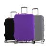 (สีพื้นเรียบ ขนาด M) ผ้าคลุมกระเป๋าเดินทาง ขนาด 22 - 24 นิ้ว มี 3 สีให้เลือก (ดำ ม่วง เทา)