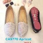 รองเท้าคัทชู ส้นแบน แต่งลายปัก สีสวยน่ารัก ทรงสวย หนังนิ่ม ใส่สบาย แมทสวยได้ทุกชุด (CA9670)