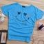 เสื้อยืดสีฟ้า สกรีนรอยยิ้ม Smile and Love สวยเท่ห์ thumbnail 3