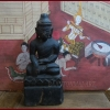 พระไม้เก่า ศิลปะพม่า สูง 9 นิ้ว