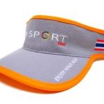 Visor Cap หมวกเปิดหัว สีเทาขลิบส้ม