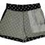 กางเกงขาสั้นเอวสูงผ้าฮานาโกะลายจุดขาวพื้นดำ กระเป๋าขวาซิปซ้าย Size S M L XL thumbnail 2