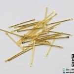 โลหะต่อต่างหู สีทอง ยาว 40 มิล (แพ็ค 50 ชิ้น)