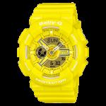 นาฬิกา คาสิโอ Casio Baby-G Girls' Generation Hyper Color series รุ่น BA-110BC-9A เหลือง lemon