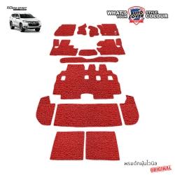 พรมดักฝุ่นไวนิล ORIGINAL รถ Mitsubishi All New Pajero Sport ปี 2015-2019 ชุดปูเต็มคันรวมแผ่นท้ายและหลังพนักพิง จำนวน 14 ชิ้น