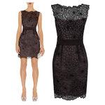 DR_4609, Karen Millen, ชุดเดรสงานปัก, Black, UK8-16, June, Dress, DN155 - Floral Cutwork Dress, ~2000-2999