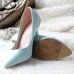SH_1182, รองเท้าหุ้มส้น-รองเท้าทำงานส้นสูง, June, 2015, Asain Shoes, Blue, Size 34-40, ~1000-1999
