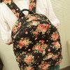 กระเป๋าเป้แฟชั่น Little Pig พร้อมส่ง รหัส RC208 สีดำ ลายดอกไม้ สวยค่ะ
