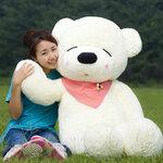 ตุ๊กตาหมีหลับ ตุ๊กตาตัวใหญ่ ขนาด 1.8 เมตร  สีขาว