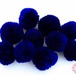 ปอมปอมไหมพรม สีน้ำเงิน 3ซม (10ชิ้น)