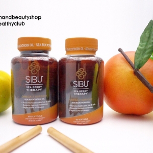 # ผิวสดใส # Sibu Beauty, Sea Buckthorn Oil, Cellular Support, with Omega 7, 60 Veggie
