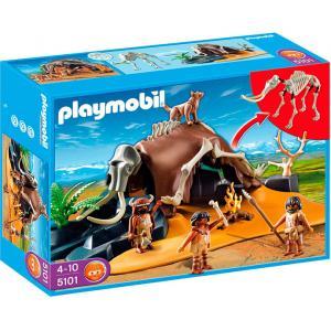 Playmobil 5101 Mammoth Skeleton Tent with Cavemen