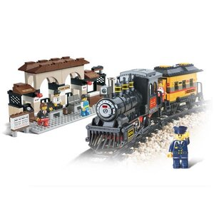 ขนส่ง (Transport) S-0235. ตัวต่อเลโก้จีน ชุดรถไฟ