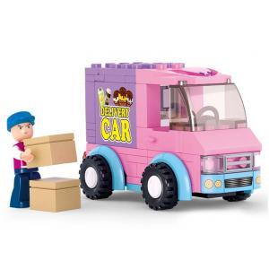 ร้านค้า (Shop) S-0520. ตัวต่อเลโก้จีน รถส่งไอศครีม