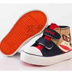 รองเท้าเด็กแฟชั่น สีกรม แพ็ค 6 คู่ ไซส์ 19-20-21-22-23-24