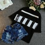เสื้อ สีดำ แพ็ค 5ชุด ไซส์ 7-9-11-13-15